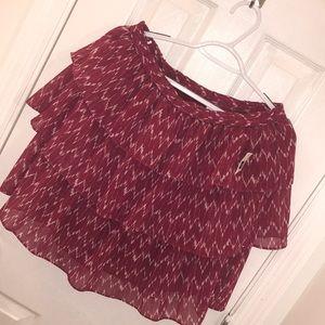 GAP Fuchsia Tiered Skirt